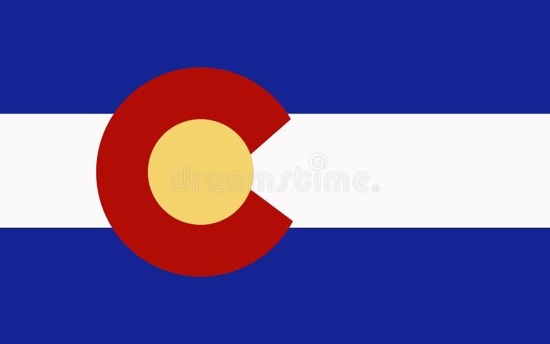 флаг colorado иллюстрация штока