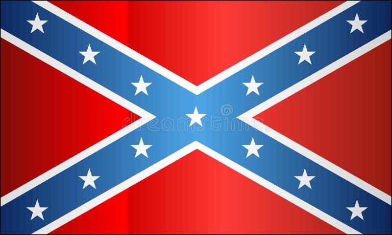 Флаг Confederate Grunge иллюстрация вектора