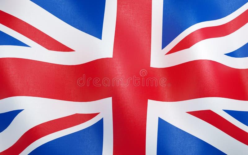 флаг 3D Великобритании иллюстрация штока