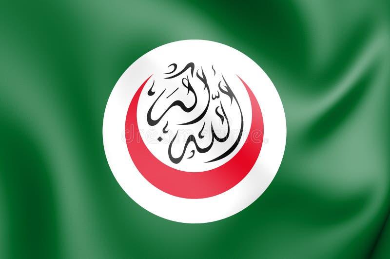 флаг 3D организации исламского сотрудничества иллюстрация вектора