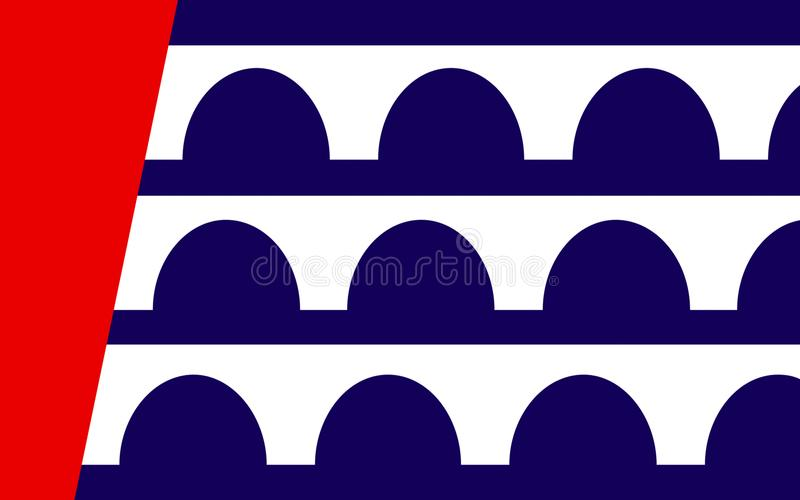 Флаг Des Moines в Айове, США стоковая фотография rf