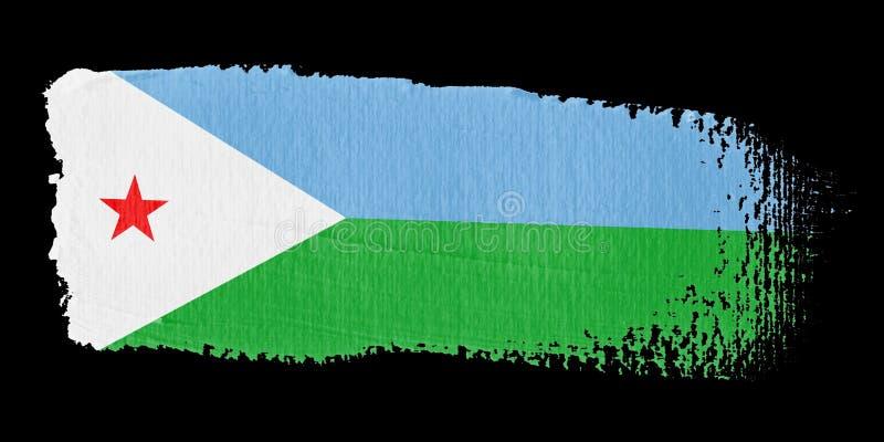 флаг djibouti brushstroke иллюстрация вектора