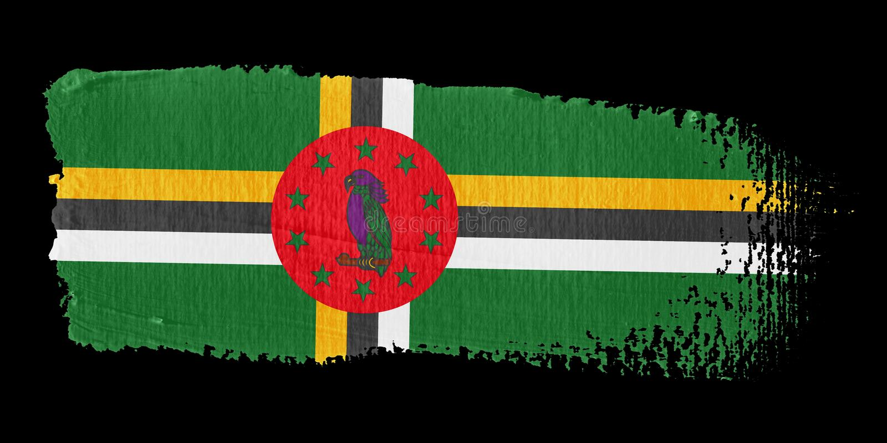 флаг dominica brushstroke бесплатная иллюстрация