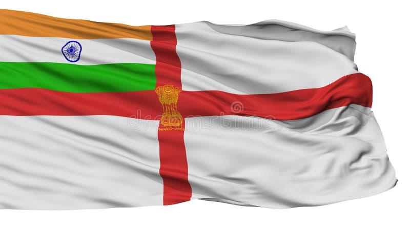Флаг Ensign Индии военноморской, изолированный на белизне бесплатная иллюстрация