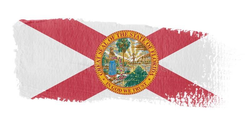 флаг florida brushstroke иллюстрация штока
