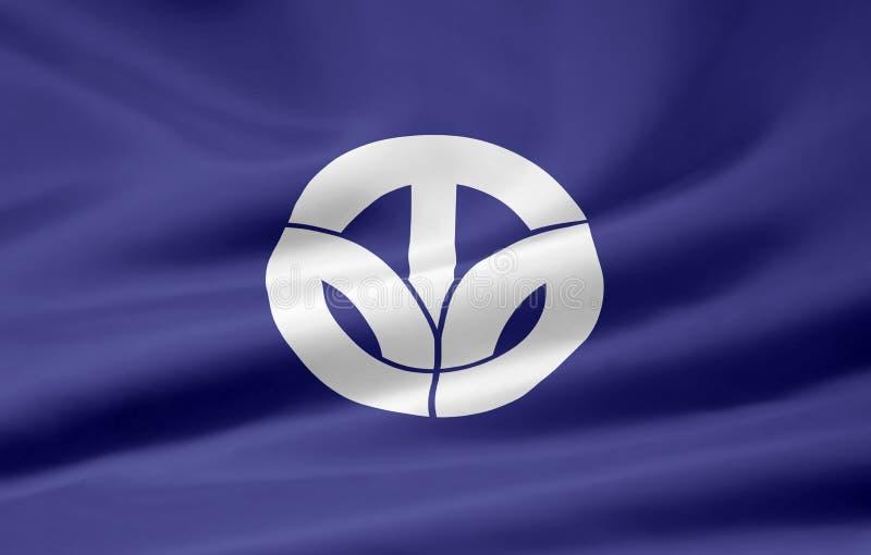 флаг Fukui япония Стоковое Изображение RF