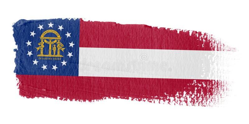 флаг Georgia brushstroke бесплатная иллюстрация