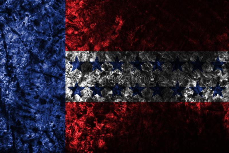 Флаг grunge архипелага Tuamotu, группы в составе острова в французское поли бесплатная иллюстрация