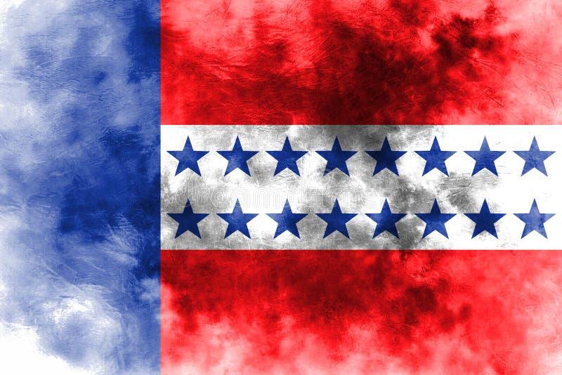 Флаг grunge архипелага Tuamotu, группы в составе острова в французском политике бесплатная иллюстрация