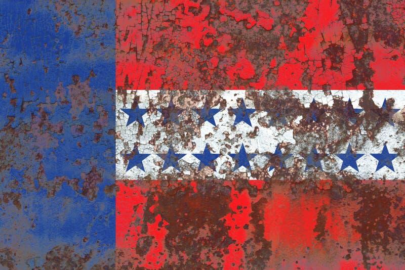 Флаг grunge архипелага Tuamotu, группы в составе острова в французском политике стоковая фотография rf
