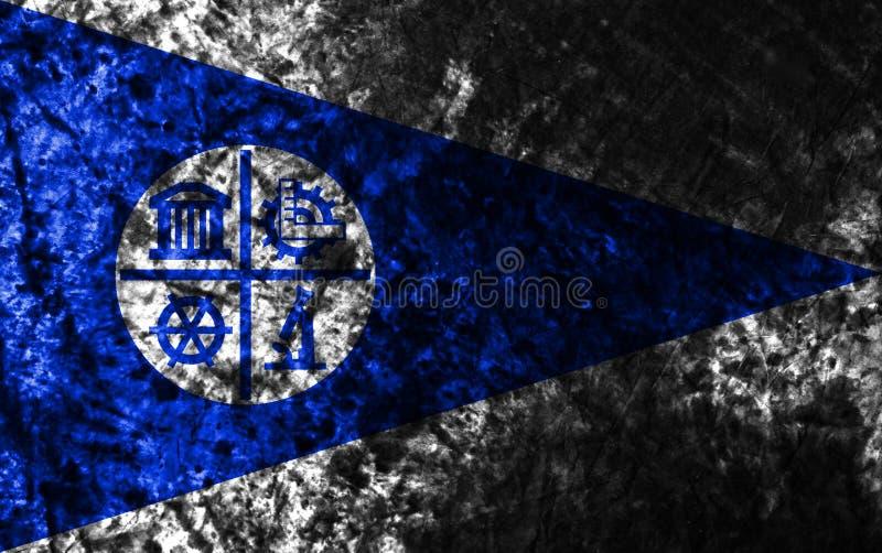Флаг grunge города Миннеаполиса, положение Минесоты, Соединенные Штаты a иллюстрация вектора