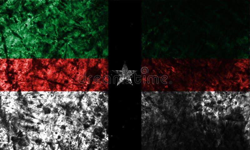 Флаг grunge города Denison на старой пакостной стене, положении Техаса, Соединенных Штатах Америки бесплатная иллюстрация