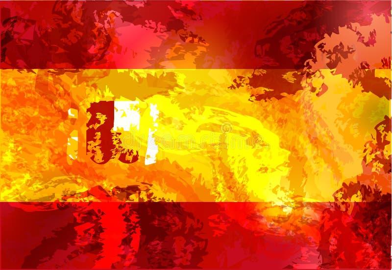 Флаг grunge Испании изолировал вектор в официальных цветах и пропорции бесплатная иллюстрация