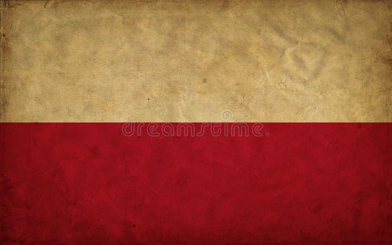 Флаг grunge Польши стоковое фото rf