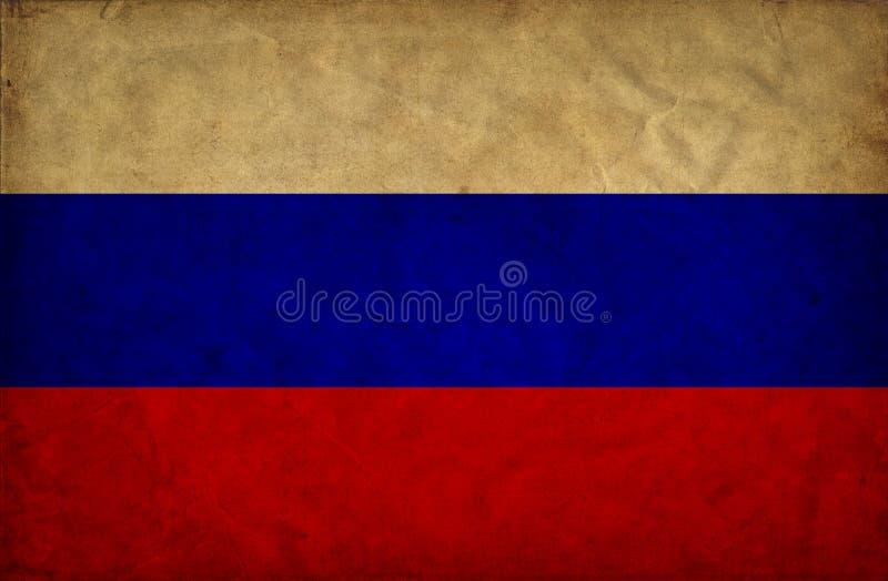 Флаг grunge России стоковые фотографии rf