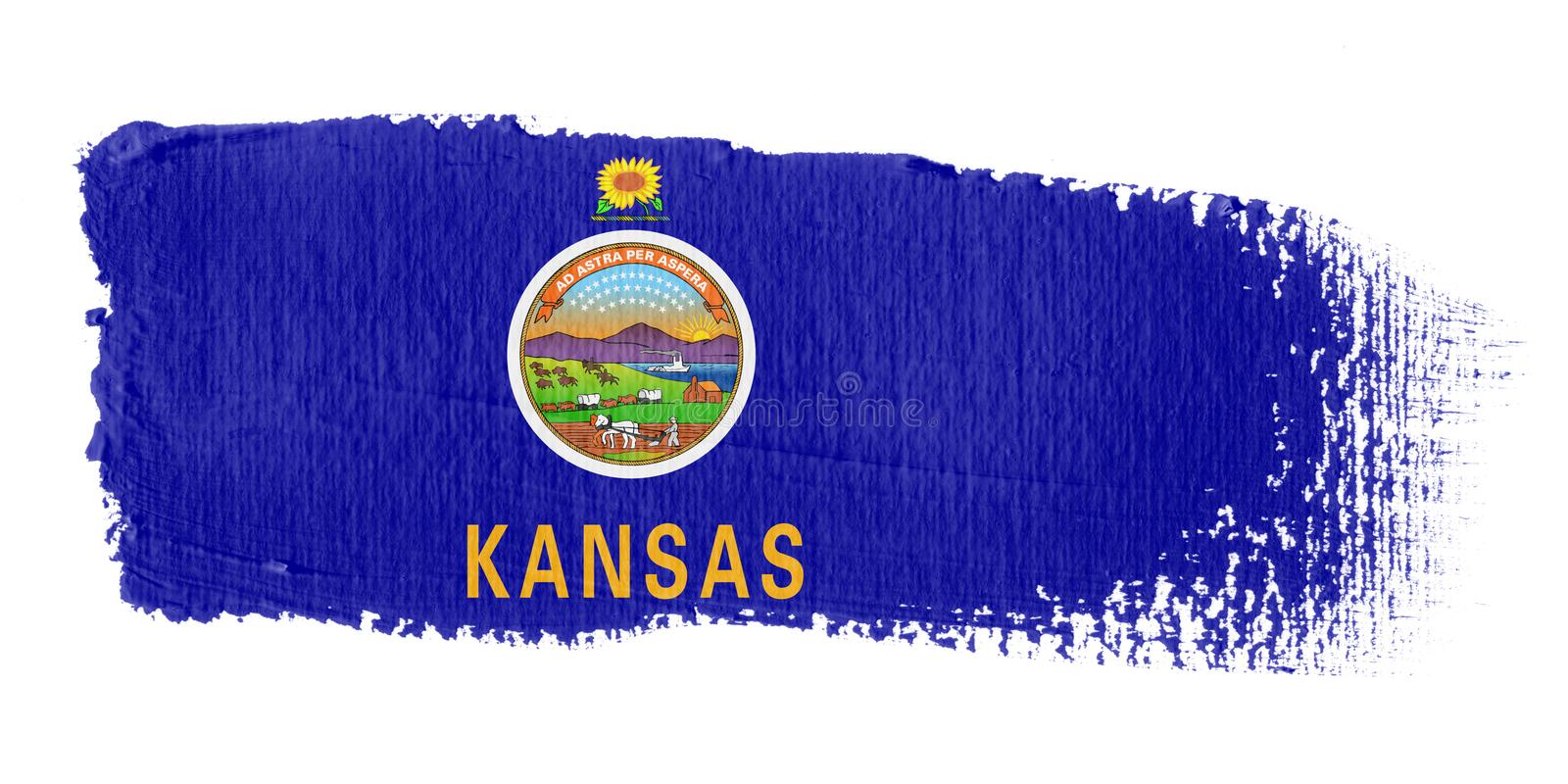 флаг kansas brushstroke иллюстрация штока