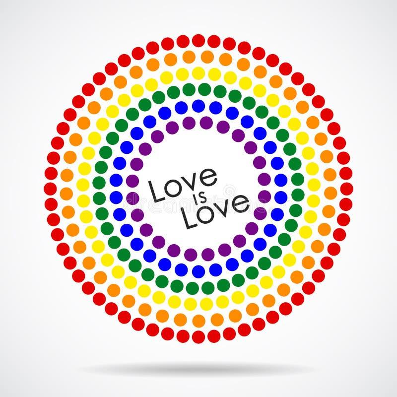 Флаг LGBT радуги пестротканый это логотип или эмблема стоковое изображение
