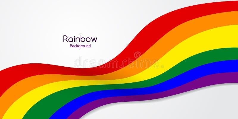 Флаг LGBT радуги пестротканый это логотип или эмблема стоковые изображения