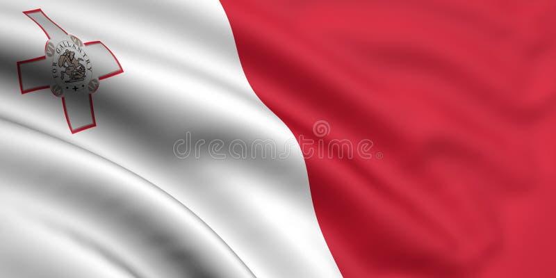 флаг malta иллюстрация штока