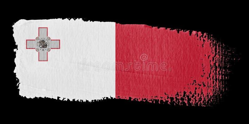 флаг malta brushstroke иллюстрация вектора