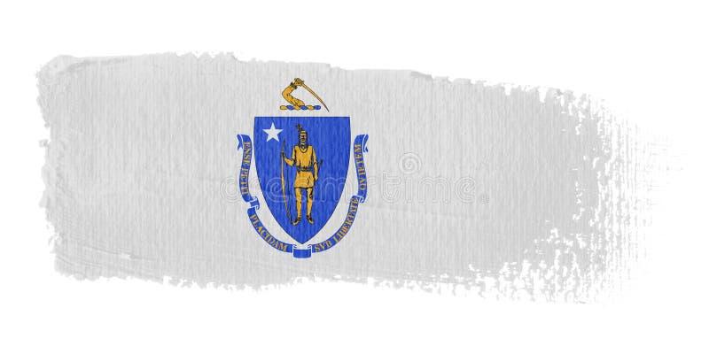 флаг massachusetts brushstroke иллюстрация вектора