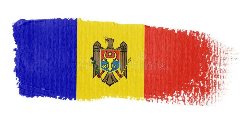 флаг moldova brushstroke иллюстрация штока