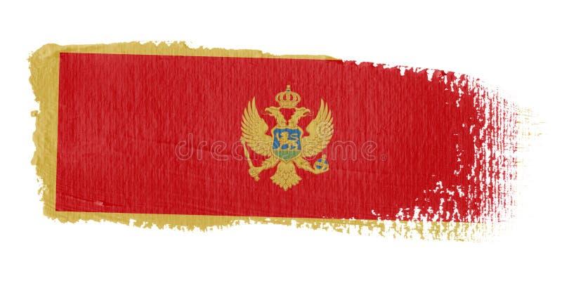 флаг montenegro brushstroke иллюстрация штока