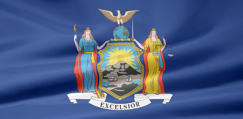 флаг New York иллюстрация вектора