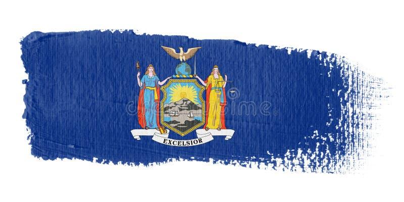 флаг New York brushstroke бесплатная иллюстрация