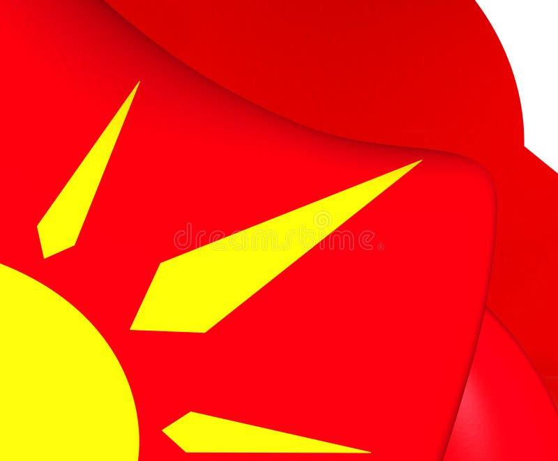 Флаг Novo Selo, македонии иллюстрация штока