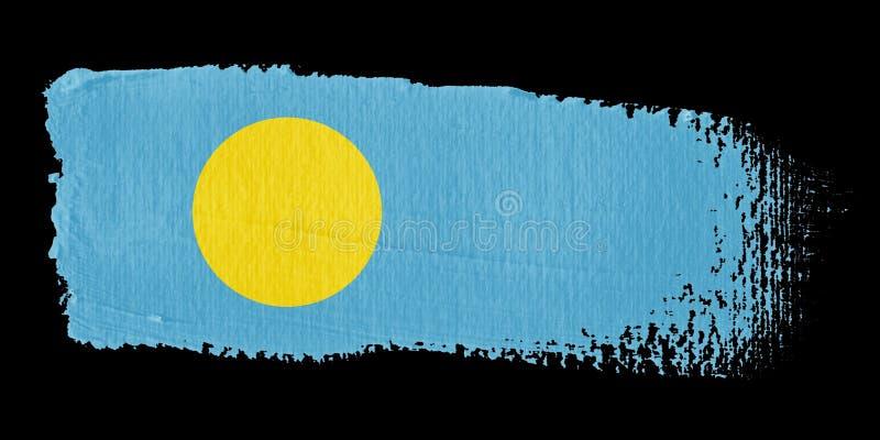 флаг palau brushstroke бесплатная иллюстрация