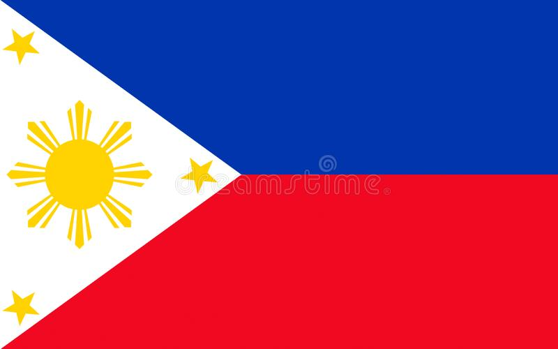 флаг philippines иллюстрация штока