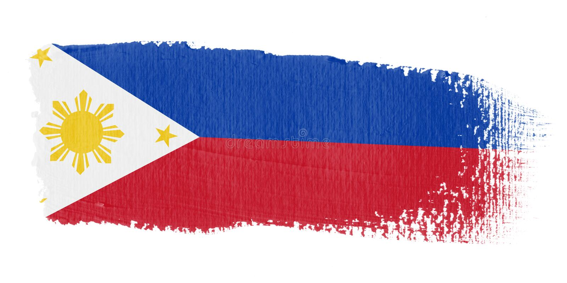 флаг philippines brushstroke иллюстрация штока