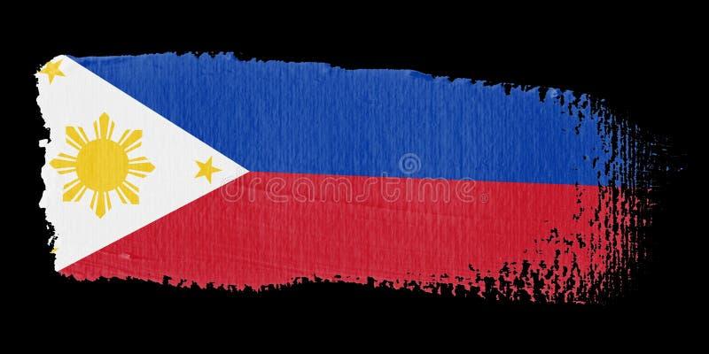 флаг philippines brushstroke иллюстрация вектора