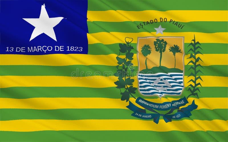 Флаг Piaui, Бразилии стоковая фотография rf