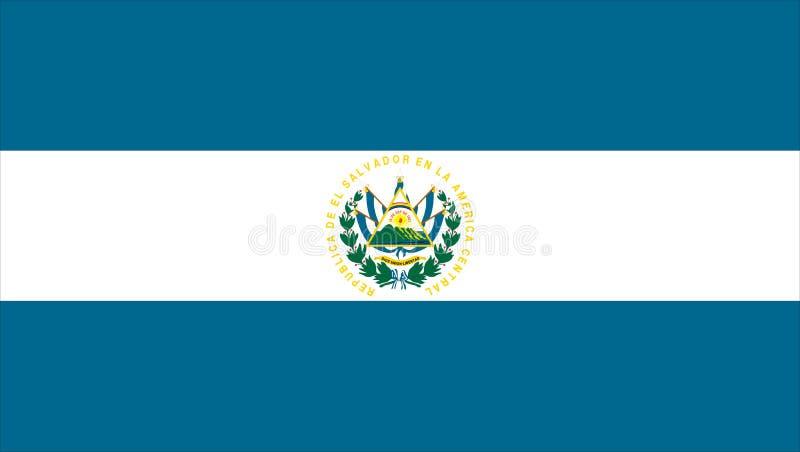 флаг salvador el иллюстрация вектора