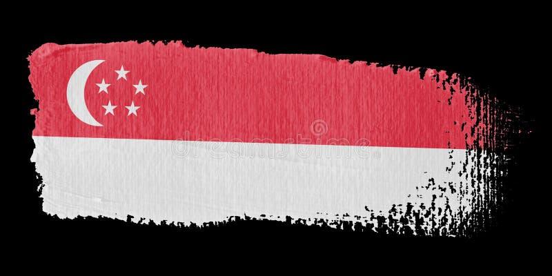 флаг singapore brushstroke иллюстрация вектора