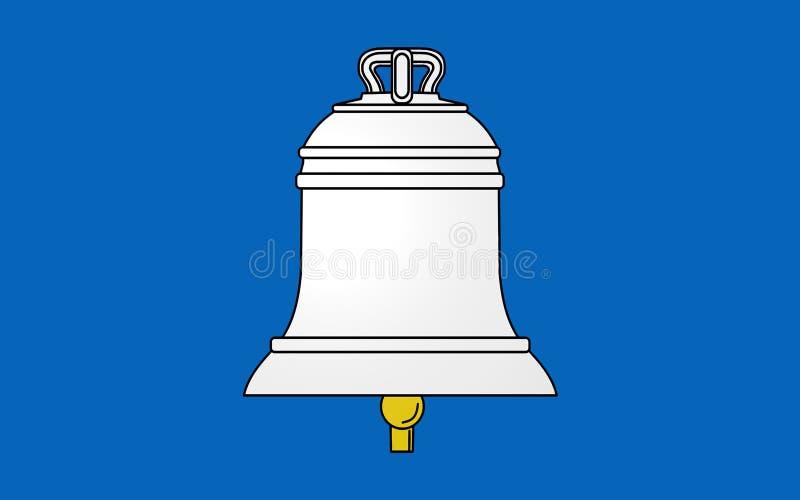 Флаг St Gaudens, Франции стоковые изображения rf