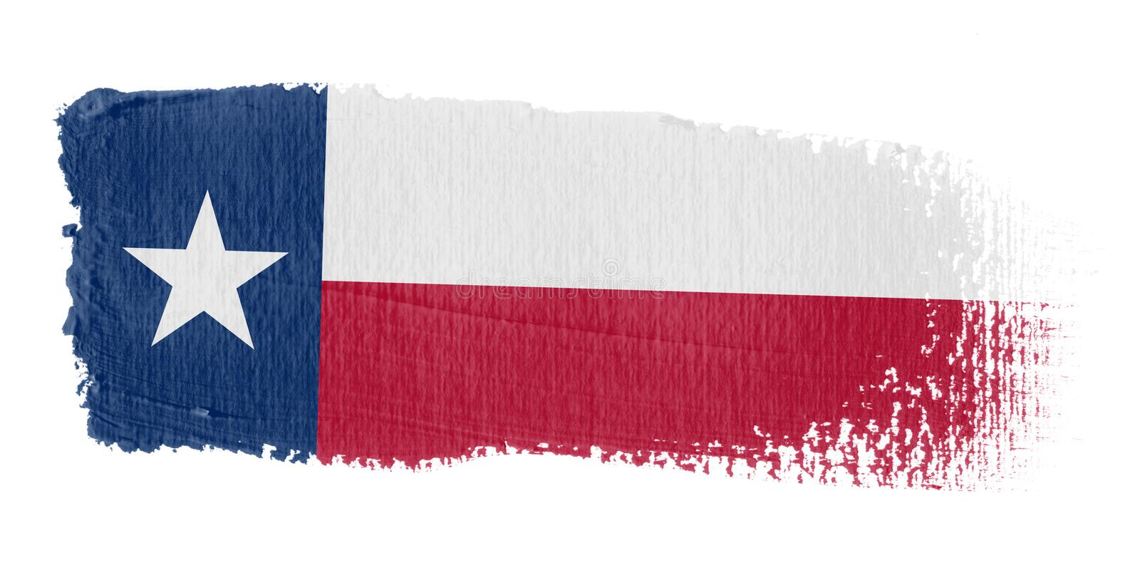 флаг texas brushstroke иллюстрация штока