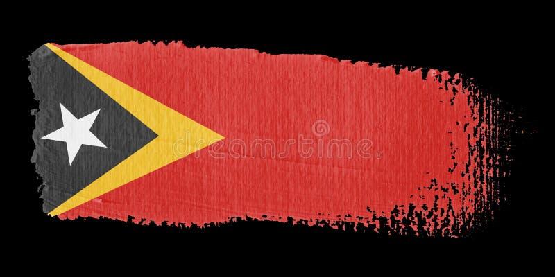 флаг timor brushstroke восточный иллюстрация вектора