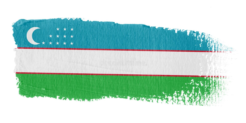 флаг uzbekistan brushstroke иллюстрация штока