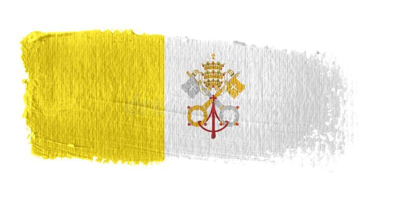 флаг vatican города brushstroke иллюстрация штока