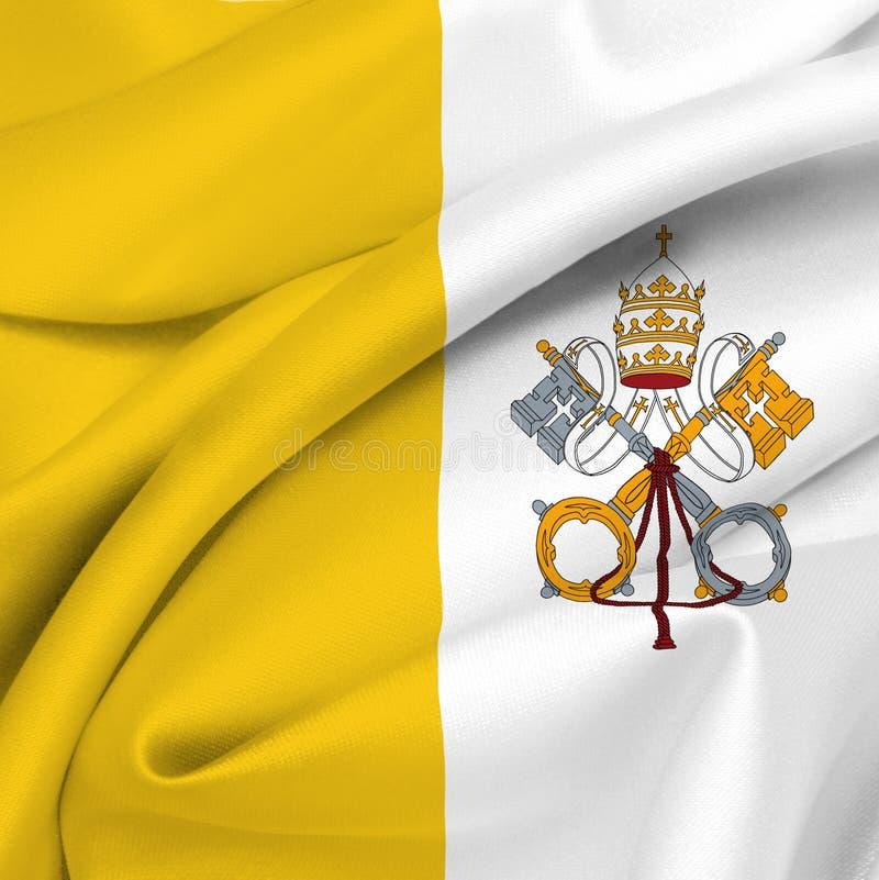 флаг vatican стоковое изображение rf