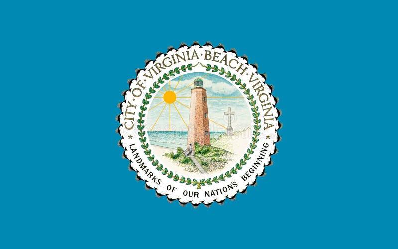 Флаг Virginia Beach в Вирджинии, США стоковое фото rf
