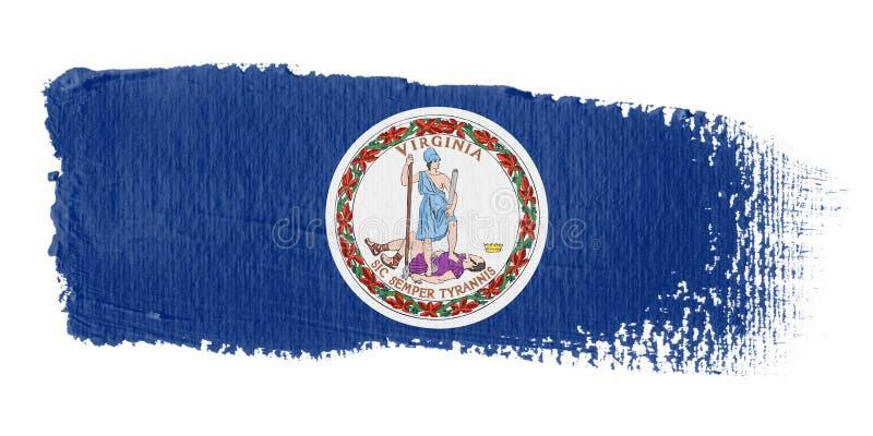 флаг virginia brushstroke бесплатная иллюстрация