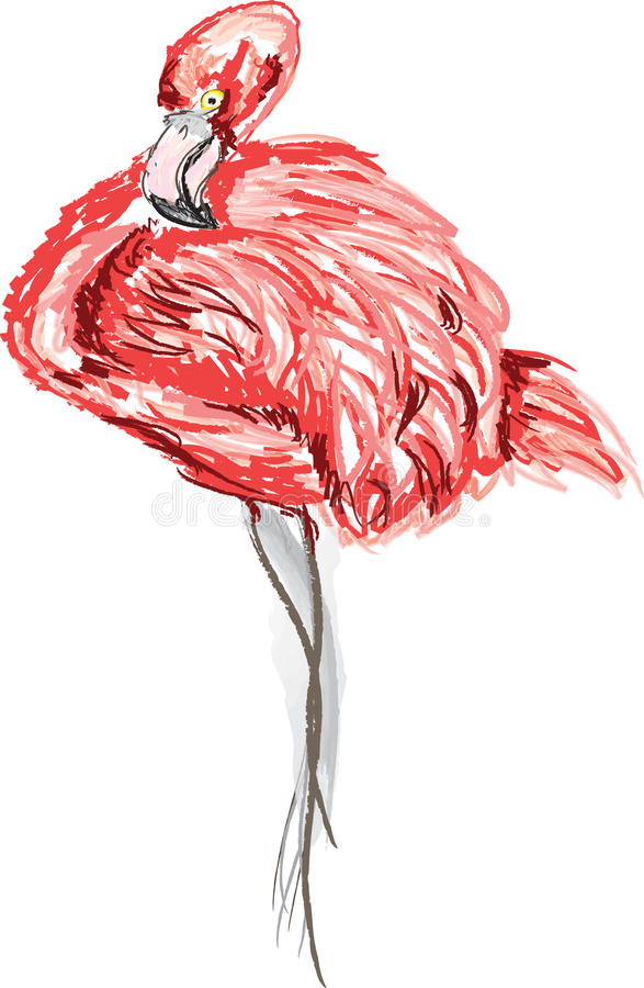 фламинго иллюстрация штока