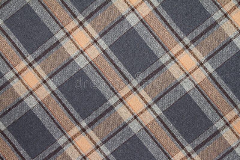 Фланель, хлопок в классическую шотландскую клетку как предпосылка ткани стоковые изображения rf