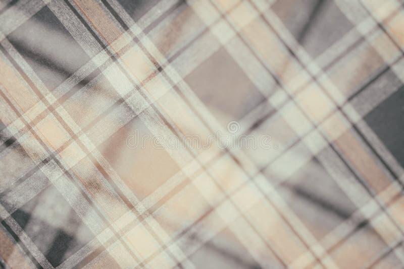 Фланель, хлопок в классическую шотландскую клетку как предпосылка ткани в винтажном стиле стоковое изображение rf