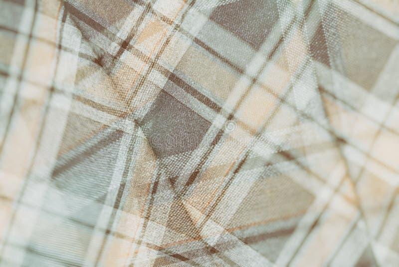 Фланель, хлопок в классическую шотландскую клетку как предпосылка ткани в винтажном стиле стоковые изображения