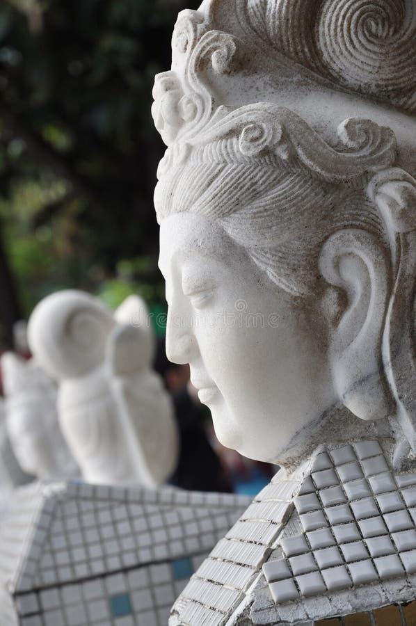 Фланк Quan Yin головной стоковые изображения rf